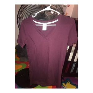 PINK V-cut maroon shirt